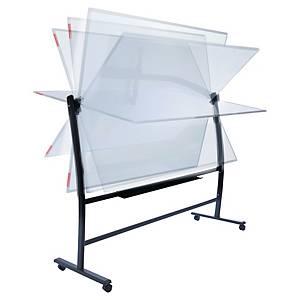 Whiteboardtavle Rocada svingtavle magnetisk 120 x 150 cm