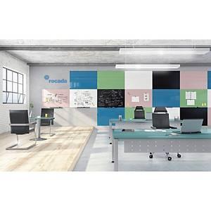 Rocada randloos whiteboard, 75 x 115 cm, blauw
