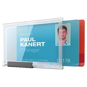 Durable 8921 Pushbox Duo badgehouder voor 2 bedrijfspassen, pak van 10
