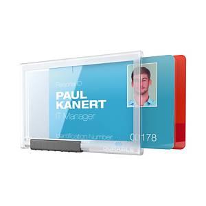 Etui DURABLE 8921 do karty identyfikacyjnej, na dwie karty, opakowanie 10 szt.*