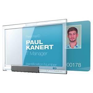 Porte-badge Durable 8922 Pushbox Mono pour 1 carte, les 10 badges