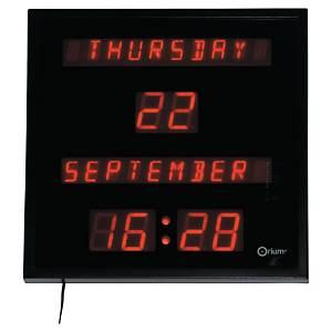 Klokke Cep Orium, digital, LED, med kalender, sort