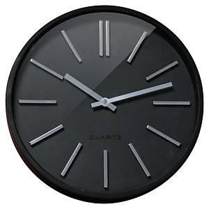 Klokke Black Goma, lydløs, sort