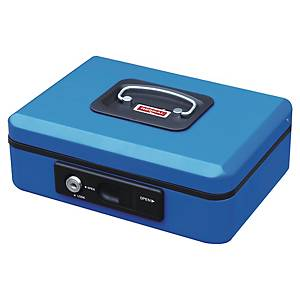 CASH BOX W/AUTO BUTTON 200X160X90MM BLU