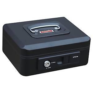 Caisse à monnaie Reskal avec bouton pour ouverture automatique, large, noir