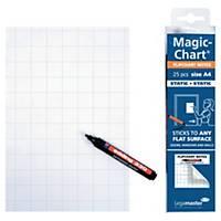 Legamaster Magic Chart Notes op rol, 20 x 30 cm, geruit