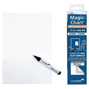 Tableau blanc sur rouleau Legamaster Magic Chart, 20 x 30 cm, uni