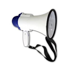 SD8SL RECHARGEABLE HAND GRIP MEGAPHONE WITH SIREN 10W ASSORTED COLOURS