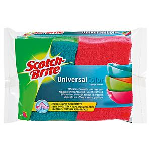 Éponge grattante Scotch-Brite Universal Color - paquet de 2