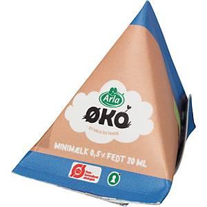 Minimælk Arla økologisk 20 ml, pakke a 100 stk.