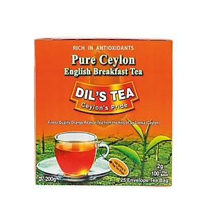 DIL S TEA ชาชนิดซอง ซีลอน 100 ซอง