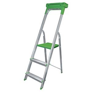 Safetool ladder with 3 steps in aluminium