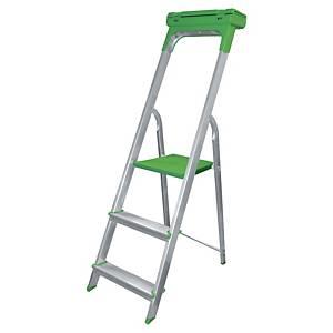 Aluklappleiter Safetool 3730.03, 3 Stufen, Tragkraft: bis 150kg
