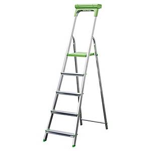 Safetool ladder with 5 steps in aluminium