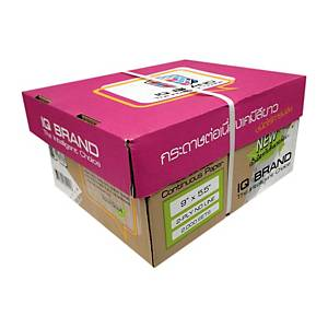 IQ CARBONLESS CONTINUOUS PAPER 2 PLY 9  X5.5   BOX OF 2000 WHITE