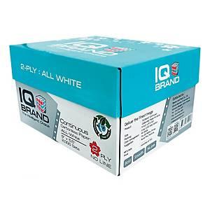 IQ กระดาษต่อเนื่องเคมี 2 ชั้น 9X5.5 นิ้ว 1 กล่อง 2000 ชุด ขาว