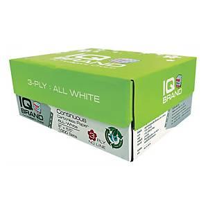 IQ กระดาษต่อเนื่องเคมี 3 ชั้น 9X5.5 นิ้ว 1 กล่อง 1000 ชุด ขาว