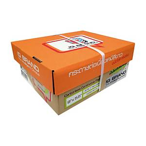 IQ กระดาษต่อเนื่องเคมี 3 ชั้น 9X5.5 นิ้ว 1 กล่อง บรรจุ 1000 ชุด ขาว