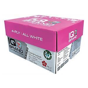 IQ กระดาษต่อเนื่องเคมี 4 ชั้น 9X5.5 นิ้ว 1 กล่อง 1000 ชุด ขาว