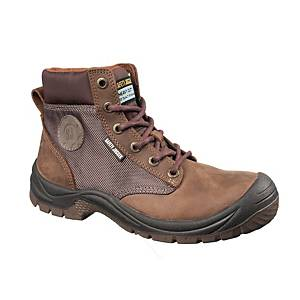 Safety Jogger Dakar S3 High Cut Safety Shoes Brown - Size 42