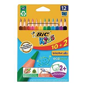 Kredki BIC Eco Evolution trójkątne, opakowanie 12 kolorów