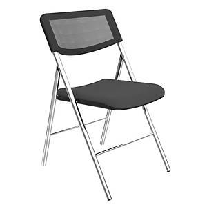 Pack de 2 cadeiras dobráveis ALBA em cor preta