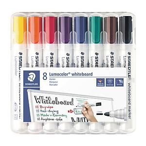 Staedtler Lumocolor 351 valkotaulukynä pyöreä 2mm, värilajitelma, 1 kpl=8 kynää