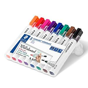 Staedtler 351 non permanent marker bullet tip assorted colours - pack of 8