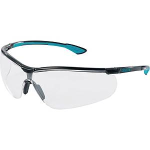 UVEX 9193.376 GLASSES BLACK/BLUE CLEAR