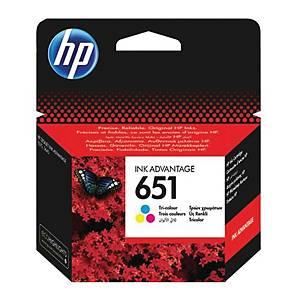 HP Tintenpatrone 651 (C2P11AE) 3-farbig C/M/G