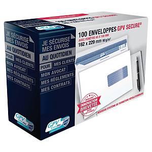 Enveloppe GPV Secure 162 x 229 - 90 g - adhésive - fenêtre 45 x 100 mm - par 100