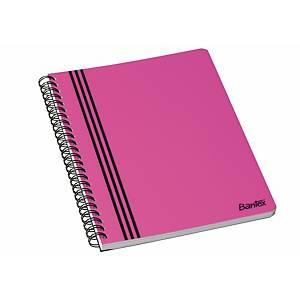 Kollegieblok Bantex Strong-Line, A5+, linjeret, pink