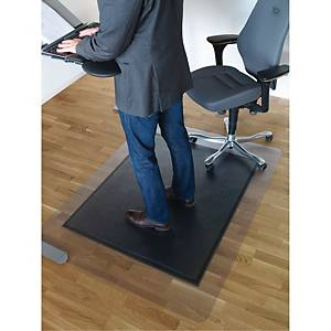 Golvskydd Matting SOS, för hårt golv, 120 x 150 cm, svart