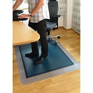 Stoleunderlag SOS, til hårdt gulv, 120 x 150 cm, grå