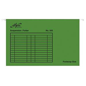ELFEN 505 SUSPENSION FILE GREEN - PACK OF 10