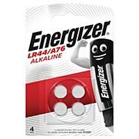 Knapcelle batterier Energizer Alkaline LR44, pakke a 4 stk.