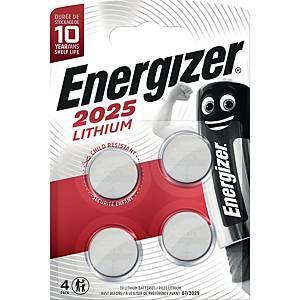 Lithium Knopfzelle Energizer CR2025, 3V, 4 Stück in einer Packung