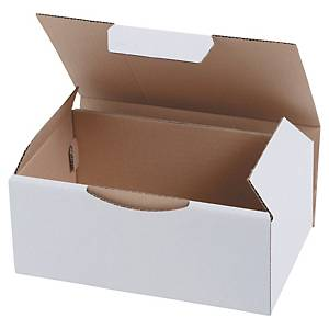 Shipping box eco 350 x 220 x 130 mm white  - pack of 50