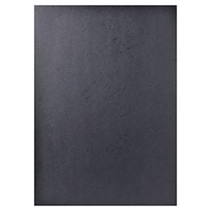 Exacompta borítólap spirálozógépekbe, bőrimitáció, fekete, 100 darab