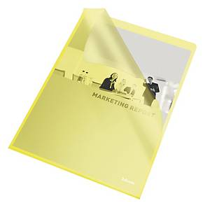 PK100 ESSELTE CUTFLUSH FOLD A4 YELLOW