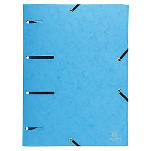 Elastikmappe Exacompta, med hul, A4, blå