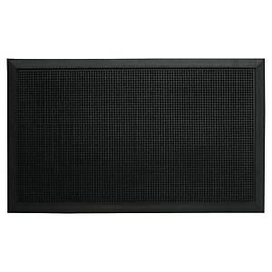 Felpudo exterior Paperflow - con pivotes - 600 x 800 mm - negro