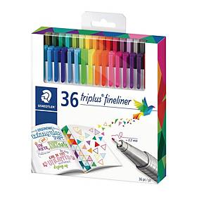 Fineliner Staedtler triplus 334, 0,3 mm, pakke a 36 farver