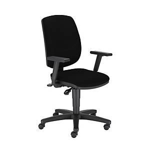 Kancelářská židle Nowy Styl Drop Ergon-Up R19T, černá