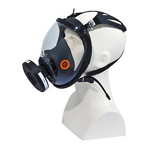 Maschera pienofacciale Deltaplus Galaxy Strap campo di visione extralarge 210°