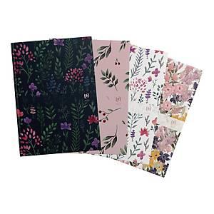 Kalendarz OXFORD Flowers, 10x15cm, tygodniowy, miks kolorów