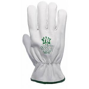 Caja de 10 pares de guantes de cuero Tomás Bodero 160IBSZ - talla 8
