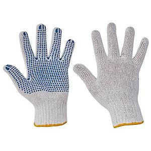 PAIR FF HS-04-011 GLOVES PVC DOTS 10