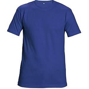 Tričko s krátkym rukávom CERVA TEESTA, veľkosť M, kráľovská modrá