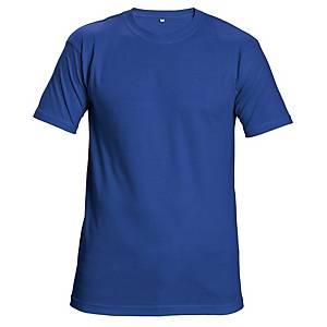 Tričko s krátkym rukávom Cerva Teesta, veľkosť L, kráľovská modrá